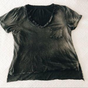 "Free people ""worn In"" t-shirt black grey"